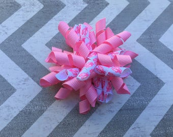 Ready to Ship Pink Ballet Korker Hair Bow