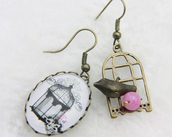 Earrings bird cage