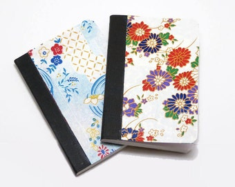 Floral Notebooks, Mini Journal, Small Notebook, Hard Cover Notebook, Mini Notebook, Washi Notebook, Japanese Notebook, pocket notes