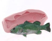 Silicone Fish Mold - Food Safe Chocolate Candy Fondant Ice Mold Flexible Soap Candle Wax Resin Polymer Clay Mold 5 & 3/8th inches long (408)