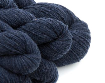Reclaimed Yarn LOT // Aran Weight Wool, 2892 Yards // Navy Blue
