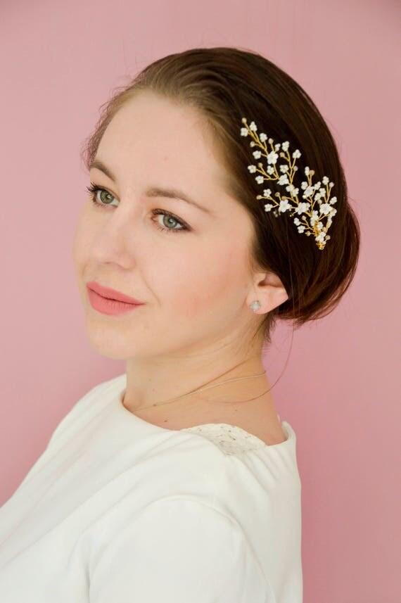 Bridal Hair Comb - Floral Vine