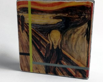 Edvard Munch - The Scream, 1893 -  Original Art with Mixed Construction Technique.