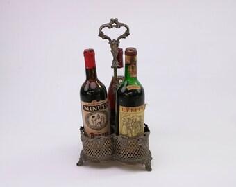 Italian silver wine bottle stand