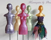 """SALE ... BJD resin mannequin with stand 32cm. Suitable for: 12"""" fashion dolls, Tiny bjd, dolls 27cm to 35cm, 1/6 scale."""