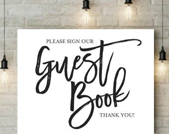 INSTANT Download | Guest Book Sign | Reception Sign | Ceremony Sign | Guest Book | Party Sign | Wedding Sign | Digital Design | 8x10