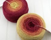 Gradient Yarn - Plush Fingering, 8 oz / 1120 yds - Raspberry Cake