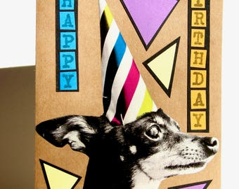Happy Birthday Party Pup Greeting Card