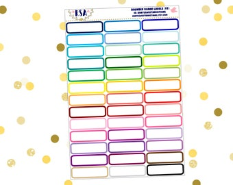 Rounded Blank Labels  {97}