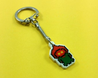 Braxton County Monster Keychain - Flatwoods Monster Keychain - Cryptid Keychain - Cryptozoology Keychain