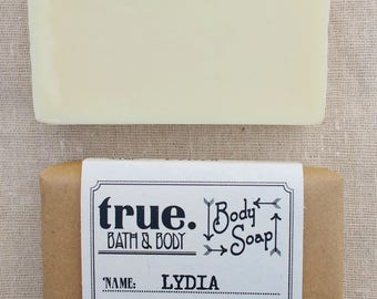LYDIA Body Soap | Organic Soap | Vegan Soap | Natural Soap | Handmade Soap | Cold Process Soap | Soap for Sensitive Skin
