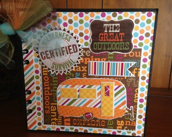 The Great Outdoors Chipboard Book - Completed Scrapbook Album