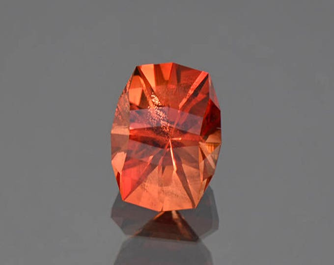 Superb Red Sunstone Gem from Oregon with Copper Shiller 2.65 cts.