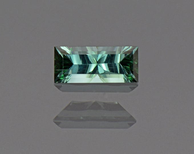 Pretty Slivery Blue Green Tourmaline Gemstone from Brazil 1.05 cts.