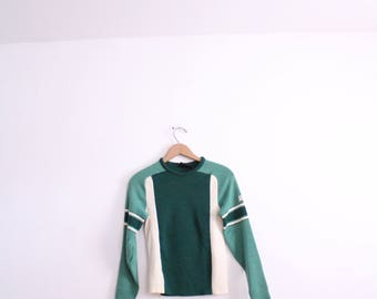 Sporty Colorblocked 90s Moto Sweater