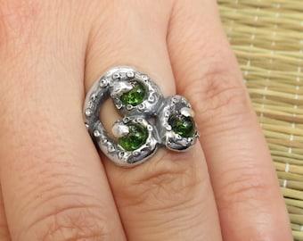 Tentacles Ring - Octopus Ring - Peridot Ring - Kraken Ring - Octopus Tentacles - Marine Life Ring - Diver Gift - Sea Gift - Cthulhu Ring