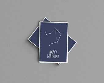 Libra Constellation Birthday Card