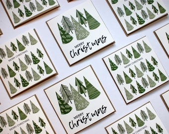 4 Christmas Cards // Square Greeting Cards // Illustrated Christmas Cards // Christmas Card Designs // Pack of 4 Cards // Christmas Pattern