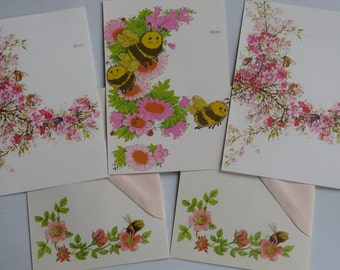 70's 80's Vintage Stationery Collection ~ Bees ~ Pretty in Pink