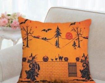 Vintage Halloween Pillow