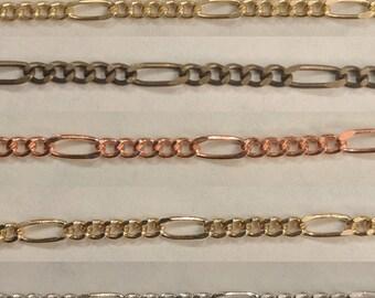 KR831 - 2.5MM Delicate Figaro Chain