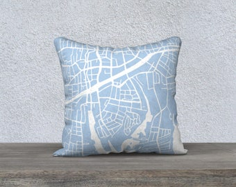 Stamford Connecticut Map Pillow Cover