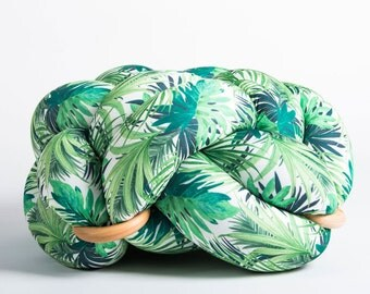 large knot Floor Cushion in Jungle green, Knot Floor Pillow pouf, Modern pouf, cushion, pouf ottoman, Meditation Pillow,