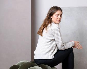 Large Velvet Knot Floor Cushion in Olive Green, Knot Floor Pillow, Modern pouf, cushion, pouf ottoman, Meditation Pillow,