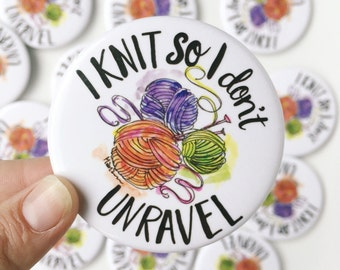 Knitting magnet // knit fridge magnet // yarn magnet // gift for knitters // knit gift // knitting gift // knit magnet // stocking stuffer