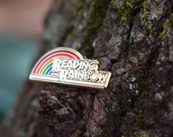 Reading Rainbow Pin ~ Lyrical Visions Pins 90s kid Nostalgia LeVar Burton Festival Hat Pins Music Fest Groovy Dance Music