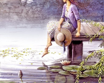 A Girl in Swan Lake - Girl, Swan, Lake, Beauty
