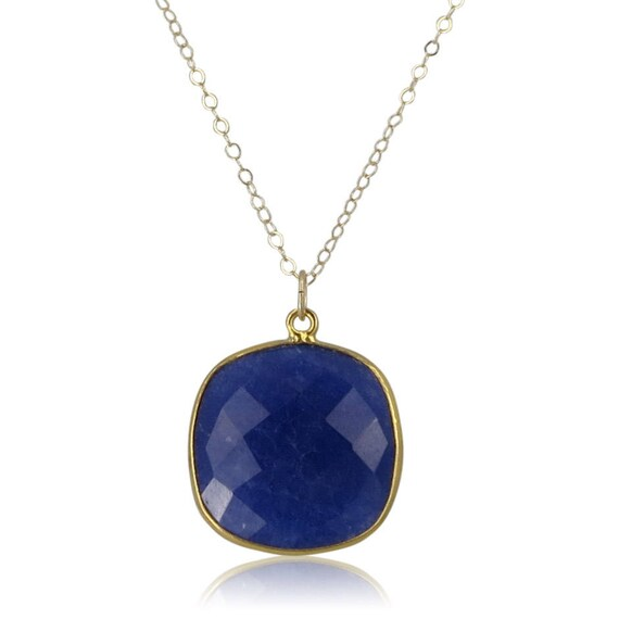 Gold Lapis Lazuli Necklace