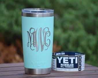 AUTHENTIC Engraved Yeti Rambler - Tumblers - Personalized Yeti - Yeti Gift - Laser Engraved Yeti - Yeti Tumbler - Yeti Cup - Yeti Monogram