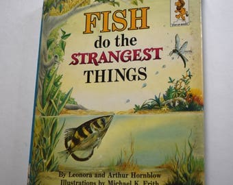 Vintage Children's Book, Fish Do the Strangest Things