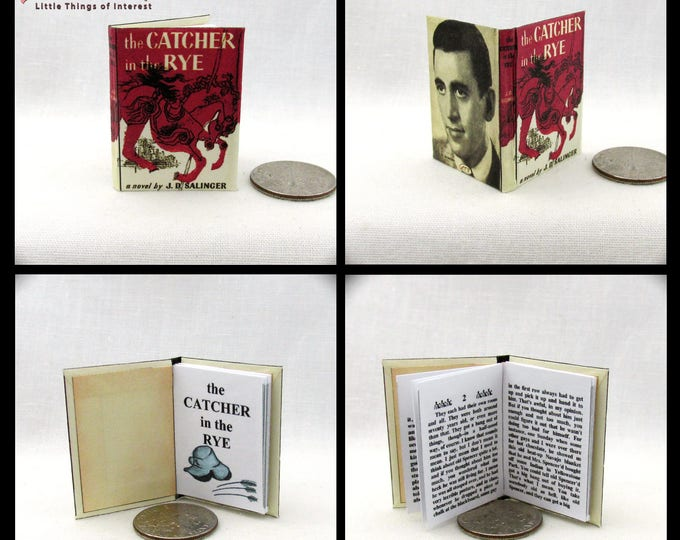 THE CATCHER In The RYE Miniature Book 1:6 Scale Doll Book Readable Book Miniature Book