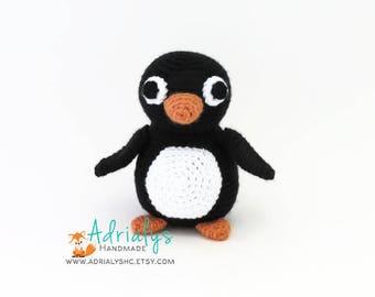 Crochet Penguin- Stuffed Penguin- Penguin Plush- Amigurumi Penguin- Handmade Penguin- Crochet Toy- Made to Order