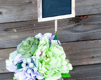 Chalkboard Centerpiece Stakes/ Signs Place Settings, Herb and Planter Signs, Table Numbers ( Set of 2 )