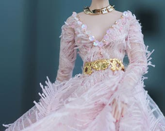 Pink Flamingo Evening Gown for Fashion Royalty (FR2, New Nuface, Nuface)