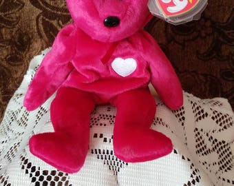 ty beanie babies valentine bears valentine bears valentina 1998 valentines day bear