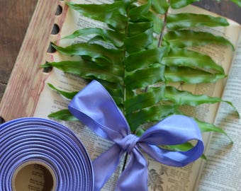 2 yards of periwinkle wired ribbon