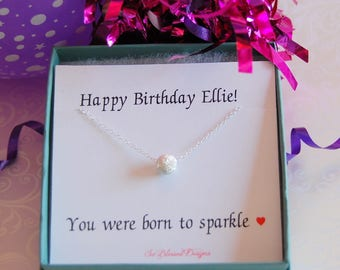 Birthday gifts for her, Teen birthday gift, birthday necklace, birthday gift for sister friend best friend daughter niece cousin birthday