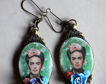Frida Kahlo collection vintage romantic mexican style earrings boho style