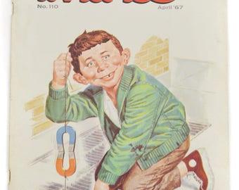 Vintage 60s Mad Magazine No. 110 April '67 Alfred E. Newman Humor Parody