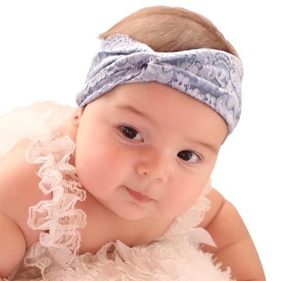 Baby Headband, Newborn Turban, Blue Headband, Girls Turban, Baby Turban, Baby Headwrap, Baby Headband, Lace Headband, Infant Headwrap