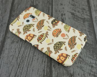 Tubby Tortoises Cute Grumpy Tortoise Animal Patterned Samsung Galaxy S6 Edge Case