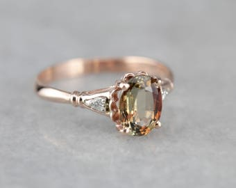 Warm Andalusite Madeline Ring in Rose Gold from The Elizabeth Henry Collection 7HE2UT-R