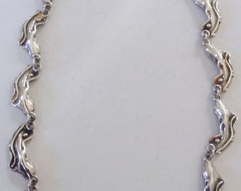 Cast Sterling Necklace