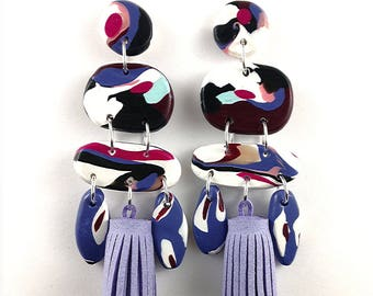 F L I C K E R [Purple] Tassle Earrings