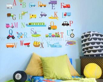 Alphabet Wall Decal, Playroom Wall Decal, Nursery Wall Decal, Alphabet Decal, Alphabet Nursery Art, Nursery Wall Art, Alphabet Art - 01-0049