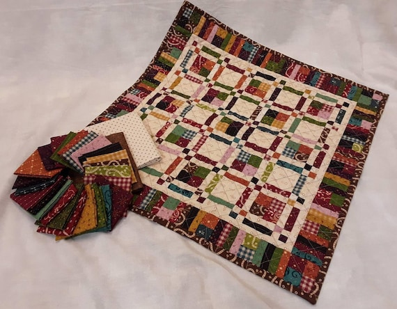 Galavanting Little Quilt Kit From Kim Diehl's Simple Whatnots Club Collection 5, Fabric And Pattern From Henry Glass Fabrics